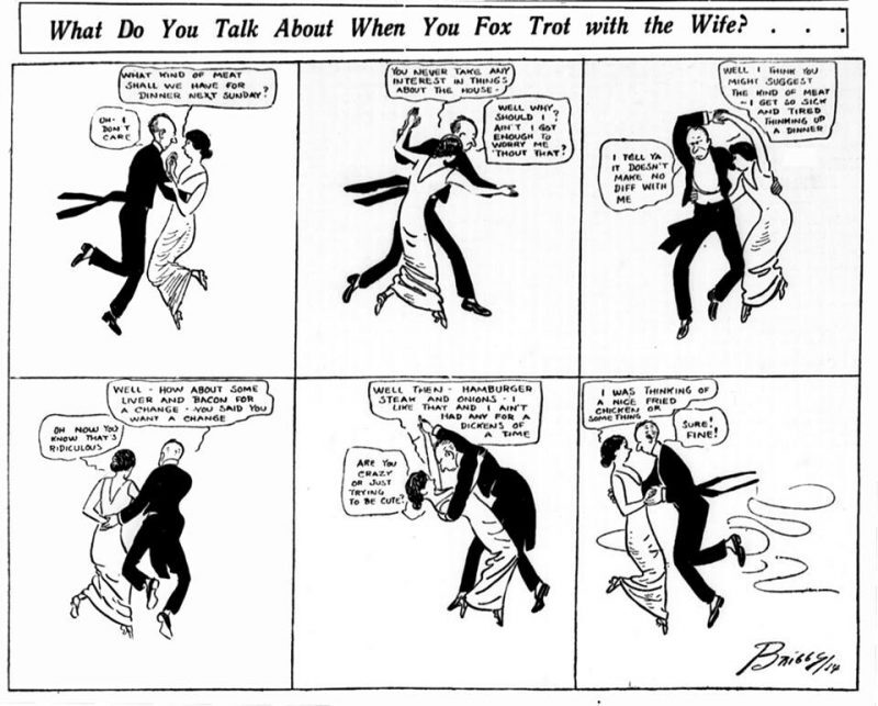 What Do You Talk About When You Foxtrot With the Wife?