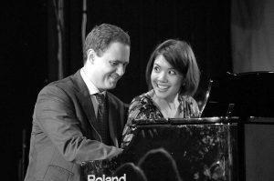 Paolo and Steph bw 300x199 - Jazz Jottings April 2016
