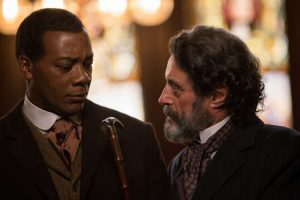 Gary Carr as Buddy Bolden and Ian McShane as Judge Perry