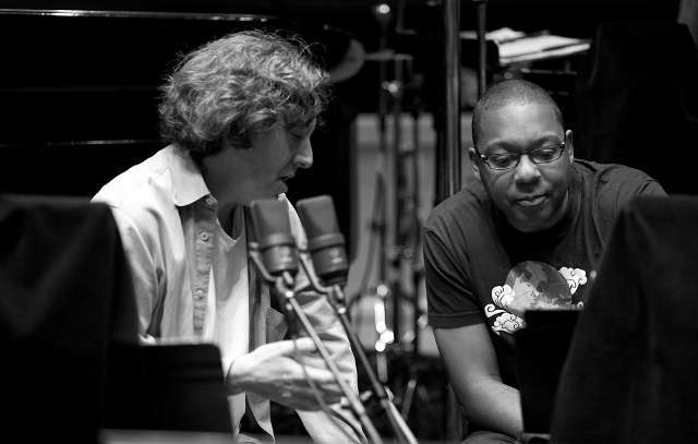 Daniel Pritzker and Wynton Marsalis work on Bolden Movie Soundtrack