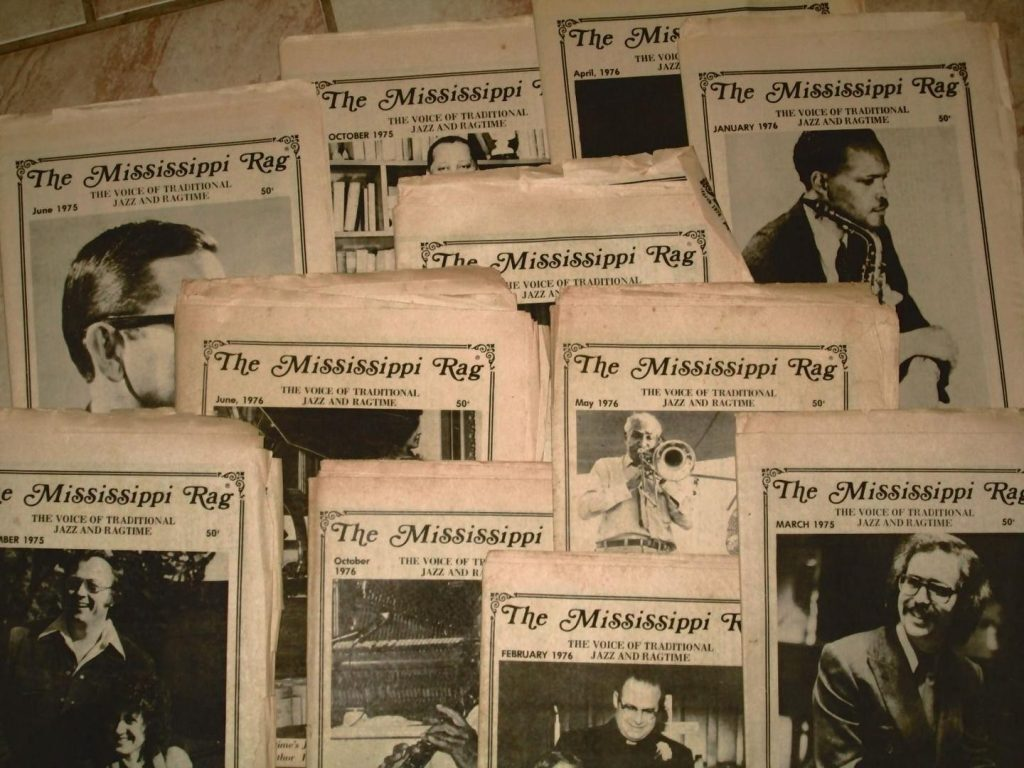 Mississippi Rag magazine covers