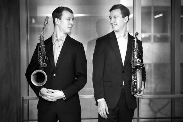Will and Peter Anderson, who shared close quarters for nine months and came out swinging. (Photo by jazz photographer Lynn Redmile)