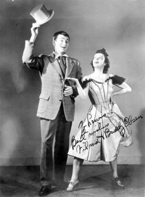 Vilma and Buddy Ebsen, in Buddy's pre-Jed Clampett, pre-Barnaby Jones song-and-dance days. inscribed to Lew Shaw