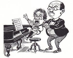 "Piano lesson 300x240 - You Can't Spell ""Chagrin"" Without ""Grin"""