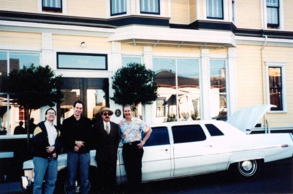 Tom Roberts, Dan Levinson, Leon Redbone, and Jack Nash. Eureka, CA, March 29, 1998