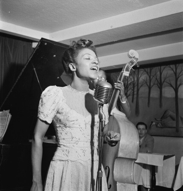 A photo of Maxine Sullivan at the Village Vanguard, New York City, taken about March 1947.