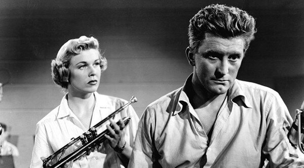 Doris Day and Kirk Douglas in Young Man With a Horn (1950)