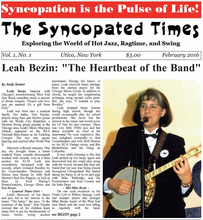 yncopated Times 2016 February Leah Bezin